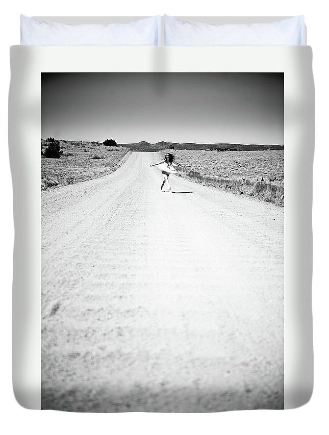 Road Duvet Cover featuring the photograph Ballet Runaway by Scott Sawyer