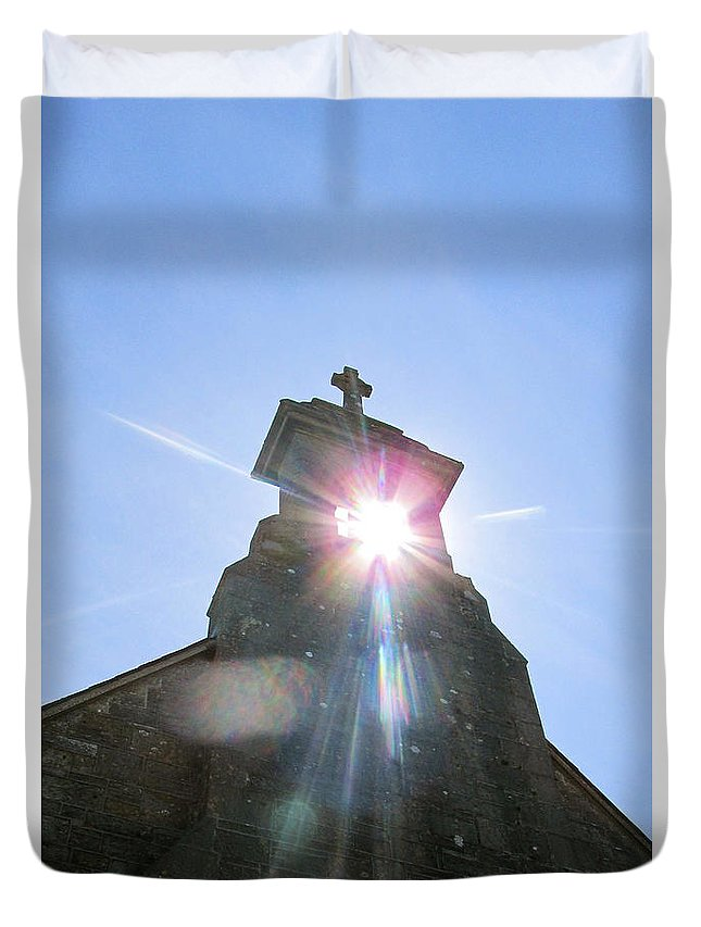 Ballinafad Duvet Cover featuring the photograph Ballinafad Blessing / Reflections Of The Light Through Time by Dawn Richerson