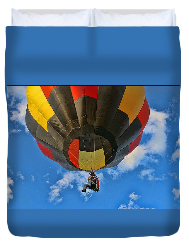 Colors Duvet Cover featuring the photograph Balloon Fantasy 28 by Allen Beatty