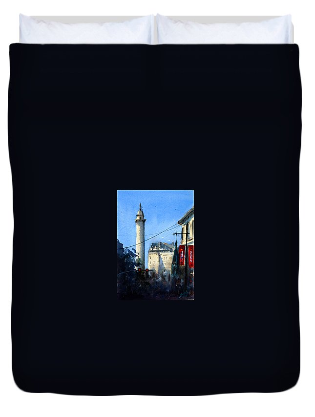 Baltimore Duvet Cover featuring the painting Baltimore, Near Peabody by James Nyika