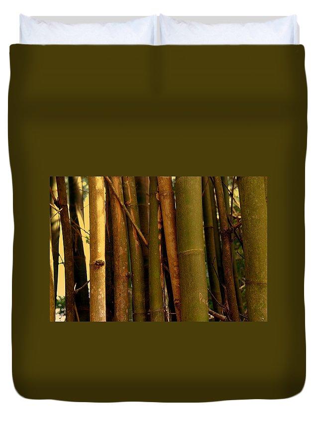 Bamboo Duvet Cover featuring the photograph Bambusa Vulgaris by Susanne Van Hulst