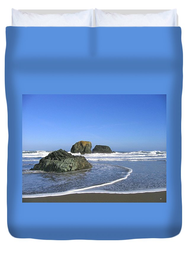 Bandon 5 Duvet Cover featuring the photograph Bandon 5 by Will Borden