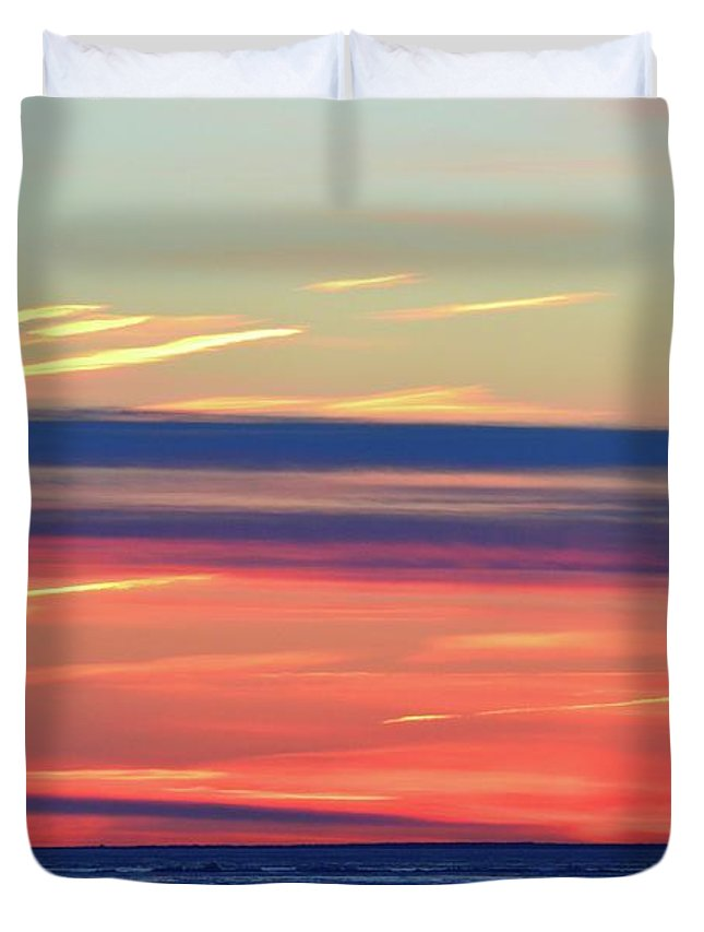 Abstract Duvet Cover featuring the photograph Bands Of Colour Two by Lyle Crump