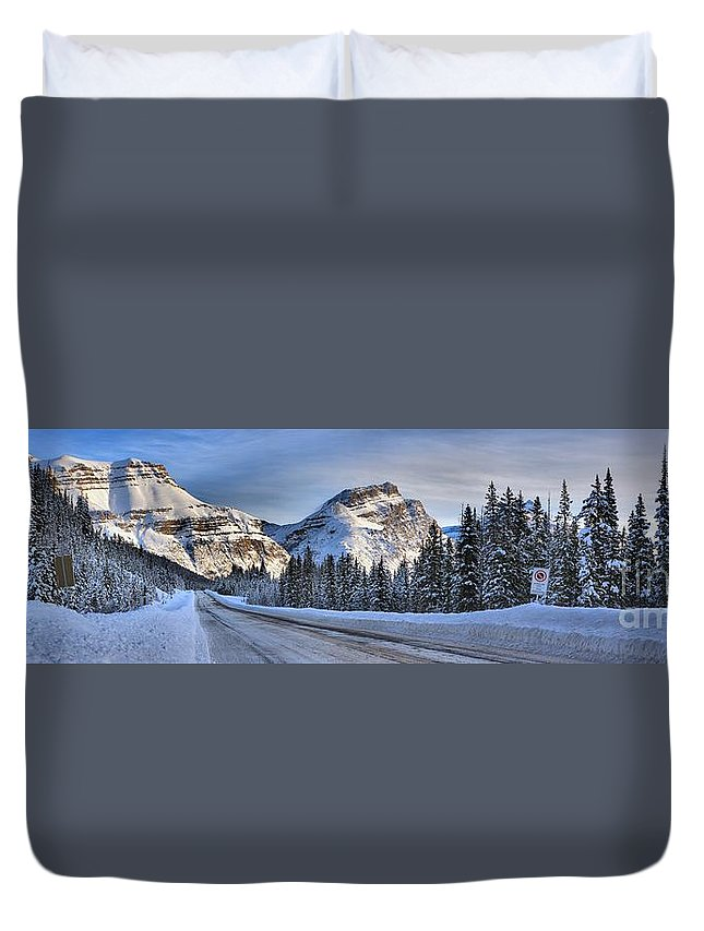 Duvet Cover featuring the photograph Banff Icefields Parkway by Adam Jewell
