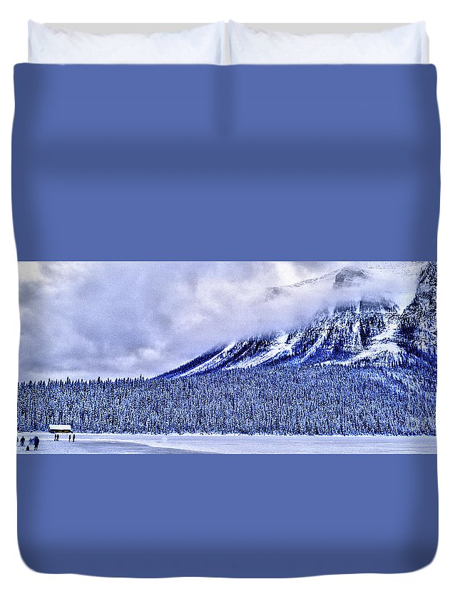 Banff Duvet Cover featuring the photograph Banff National Park, Calgary by Vito Palmisano