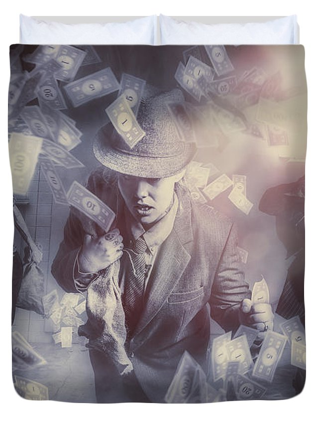 Money Duvet Cover featuring the photograph Bankers Bailout With Bail-ins by Jorgo Photography - Wall Art Gallery