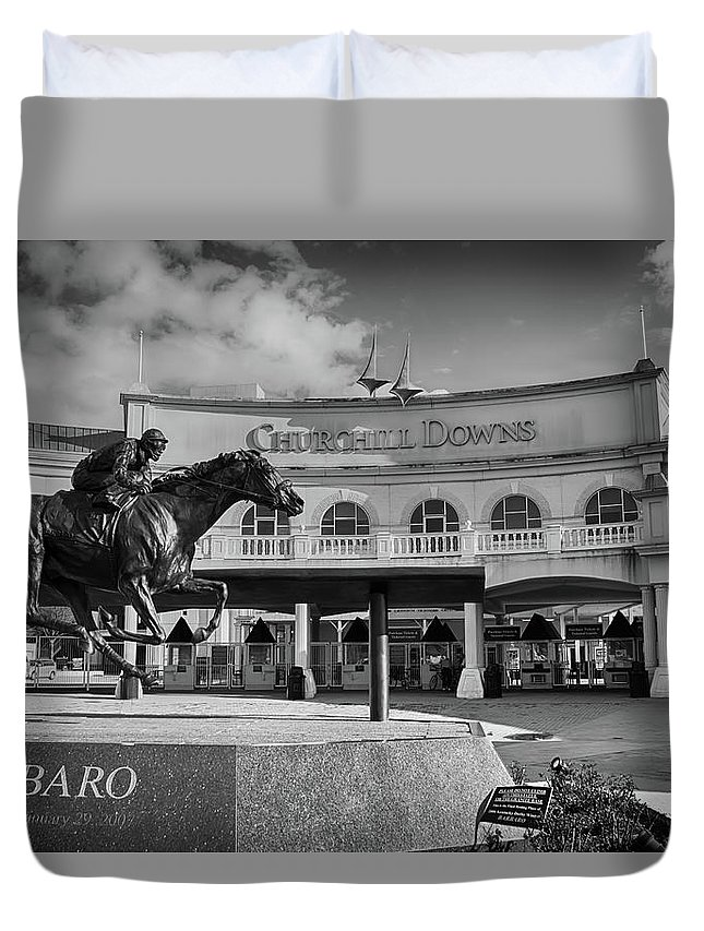 Barbaro Duvet Cover featuring the photograph Barbaro by Kathleen White