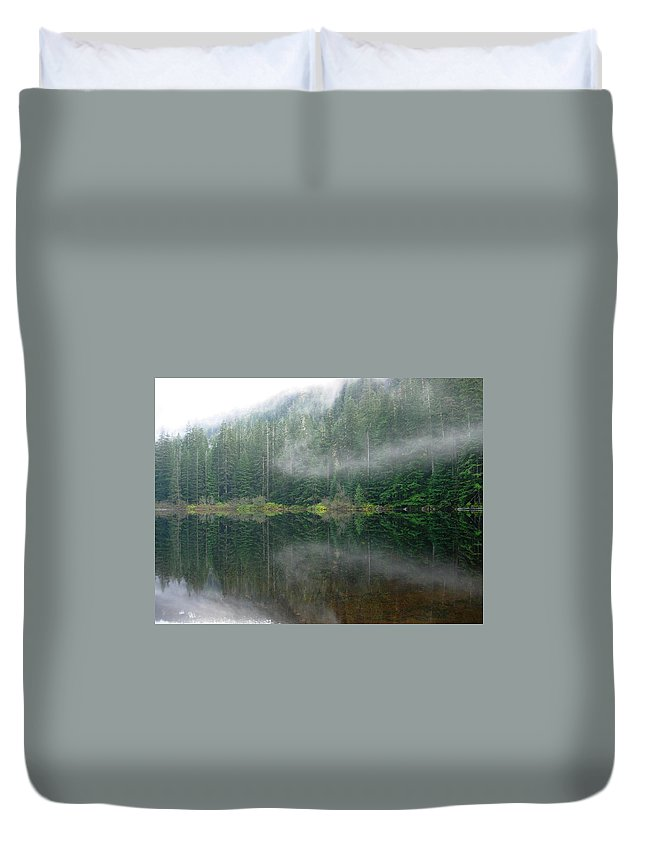 Lake Duvet Cover featuring the photograph Barclay Lake, Reflected by Maxwell Krem
