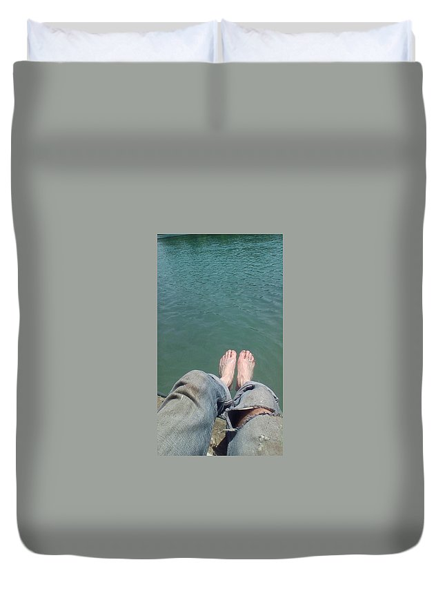 Great Lakes Duvet Cover featuring the photograph Barefoot In Nature by Jon-Erik Kroon