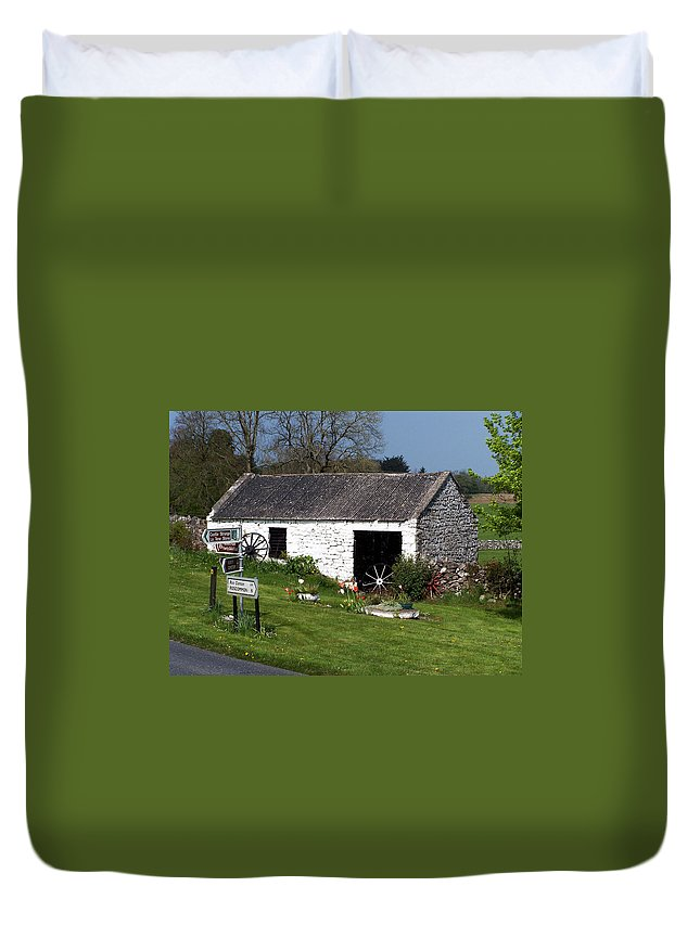 Ireland Duvet Cover featuring the photograph Barn At Fuerty Church Roscommon Ireland by Teresa Mucha