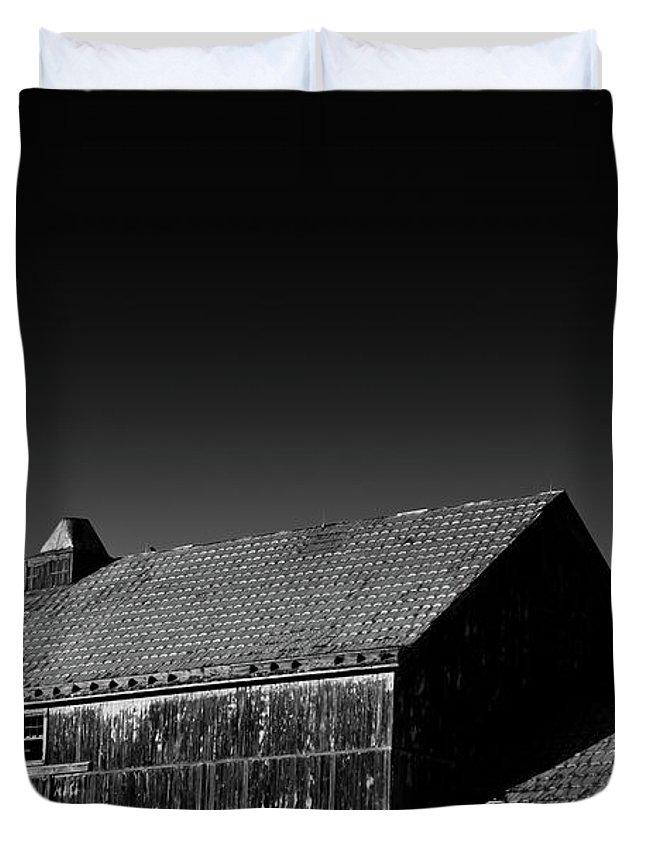 Duvet Cover featuring the photograph Barn by Eric Ferrar