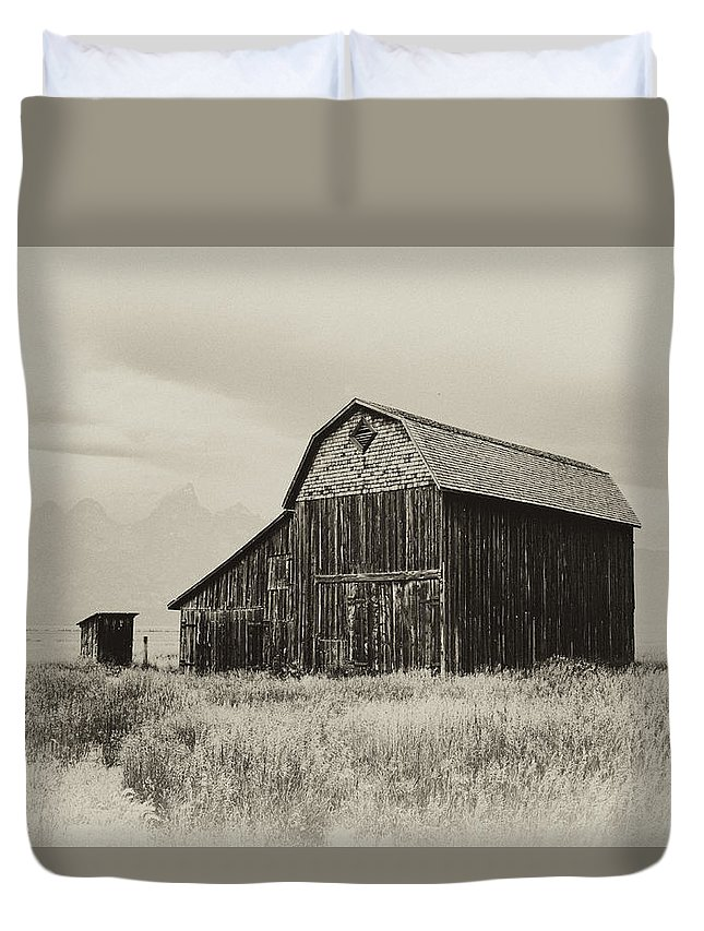 Grand Duvet Cover featuring the photograph Barn In The Grand Tetons by Hugh Smith