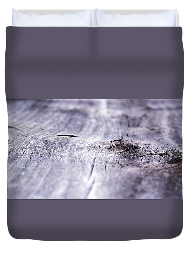 Abstract Duvet Cover featuring the photograph Barn Wood Abstract by Kurt Shaffer