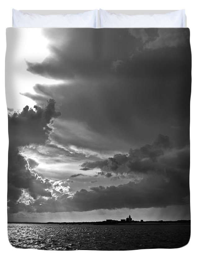 Barnstable Duvet Cover featuring the photograph Barnstable Harbor Sky by Charles Harden