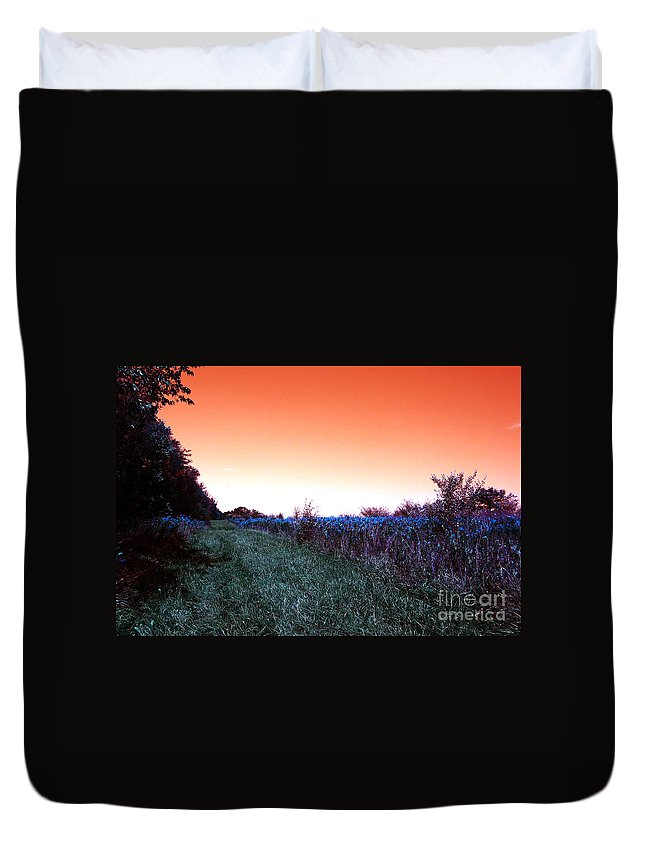 Air Duvet Cover featuring the photograph Barred Owl Trail by Alan Look