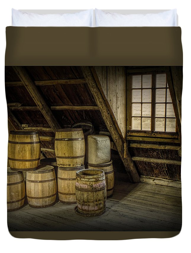 Barrel Duvet Cover featuring the photograph Barrel Casks by Randall Nyhof