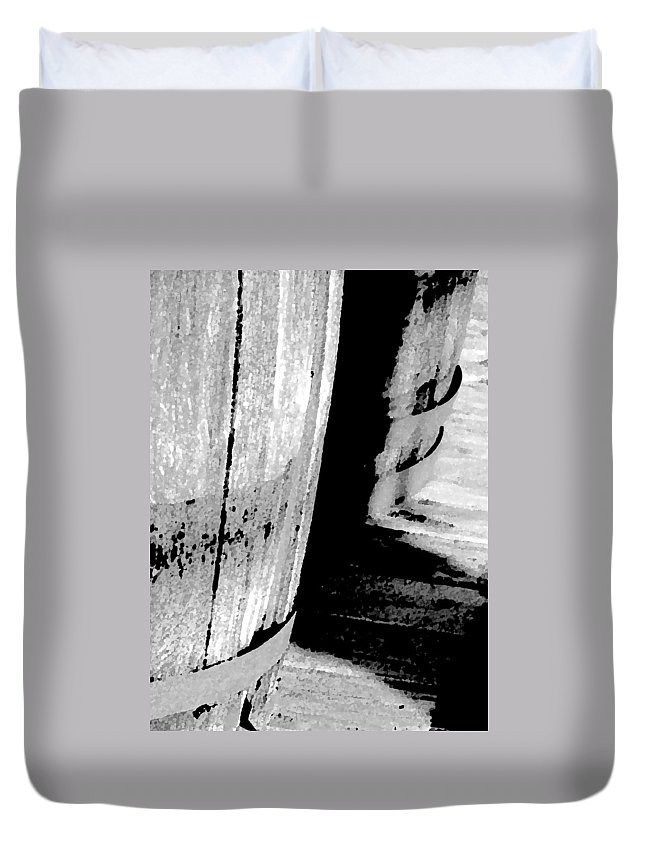 Abstract Duvet Cover featuring the photograph Barrels 3 by Lenore Senior