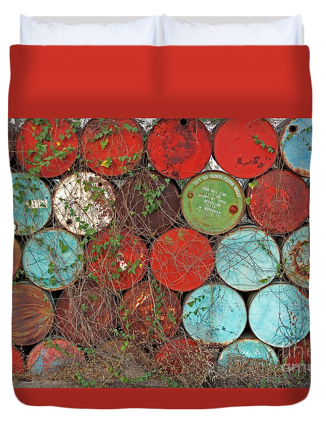 Play Of Colors Duvet Cover featuring the photograph Barrels - Play Of Colors by Christian Hallweger