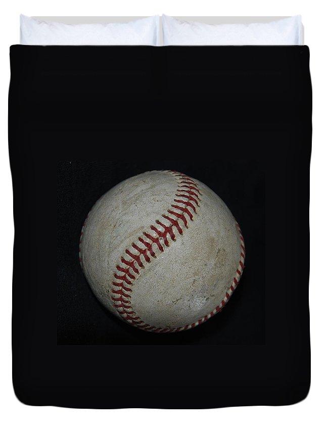 Pop Art Duvet Cover featuring the photograph Baseball by Rob Hans
