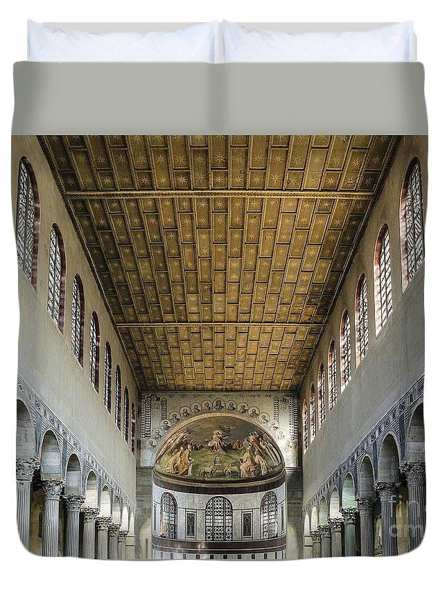 Apse Duvet Cover featuring the photograph Basilica Of Saint Sabina by John Greim