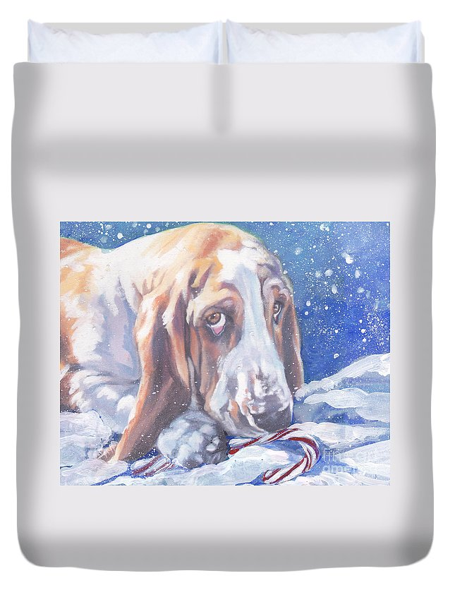 Basset Hound Christmas Duvet Cover for Sale by Lee Ann Shepard