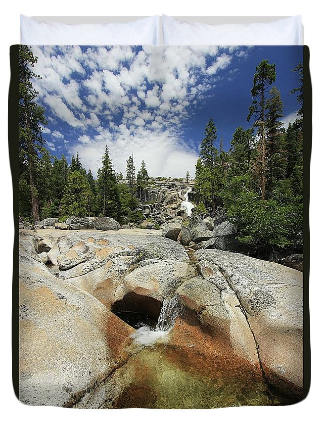 Bassi Falls Duvet Cover featuring the photograph Bassi Falls...nature Nurtures by Sean Sarsfield