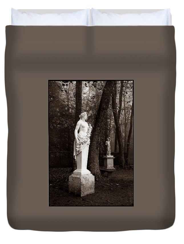 Versailles Duvet Cover featuring the photograph Bassin D'apollon, Versailles by Allan Janus