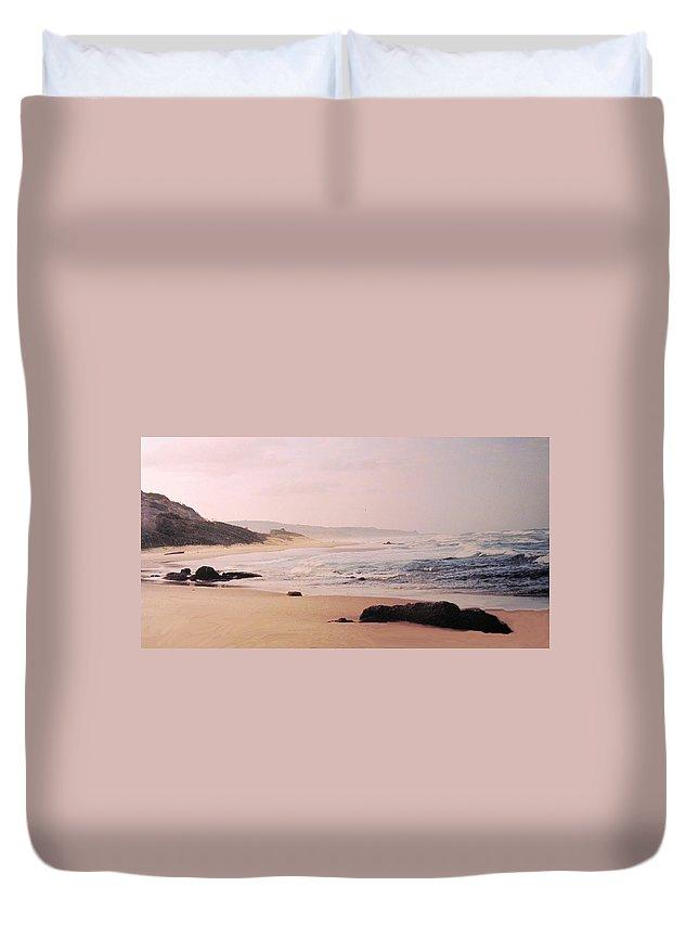 Barbados Duvet Cover featuring the photograph Bathsheba Coast Barbados by Ian MacDonald