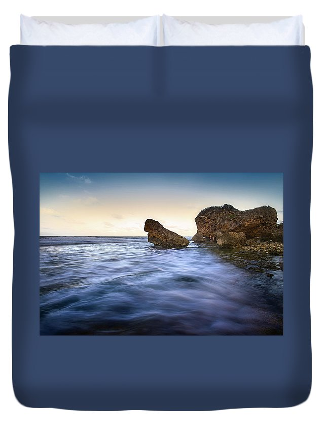 Saint Joseph Duvet Cover featuring the photograph Bathsheba Flow by Andre Donawa