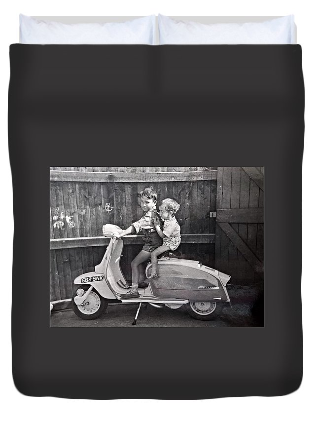 Batman Duvet Cover featuring the photograph Batman And Robin by Sam Barrow