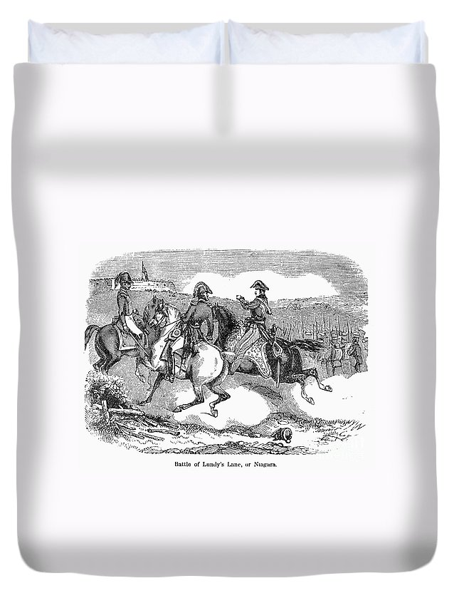 1814 Duvet Cover featuring the photograph Battle Of Lundys Lane by Granger