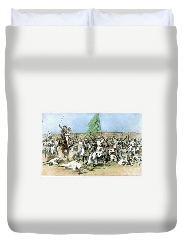 1898 Duvet Cover featuring the painting Battle Of Omdurman 1898 by Granger