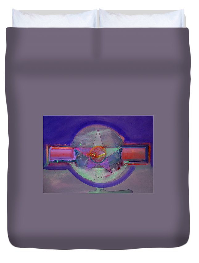 Usaaf Insignia Duvet Cover featuring the painting Battlefield by Charles Stuart