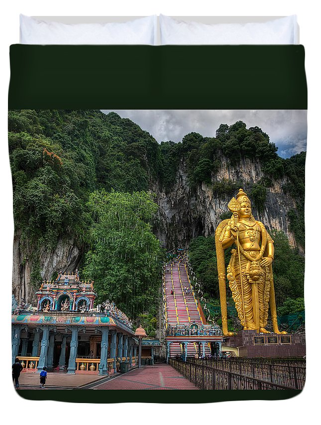 272 Duvet Cover featuring the photograph Batu Caves by Adrian Evans