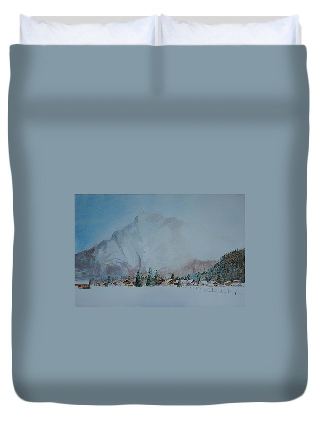 Bavaria Duvet Cover featuring the painting Bavarian Winter by P Anthony Visco