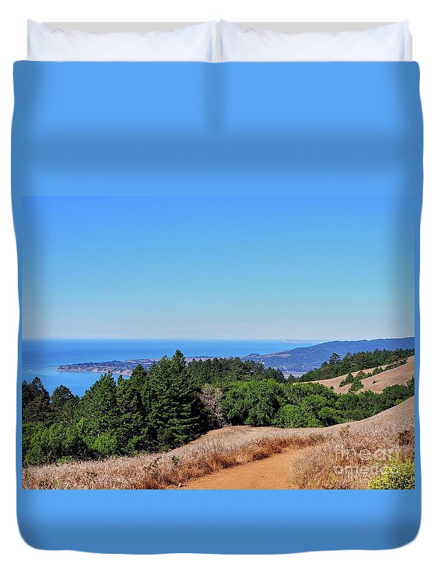 San Francisco Duvet Cover featuring the photograph Bay Area Views by Caroline Chandler