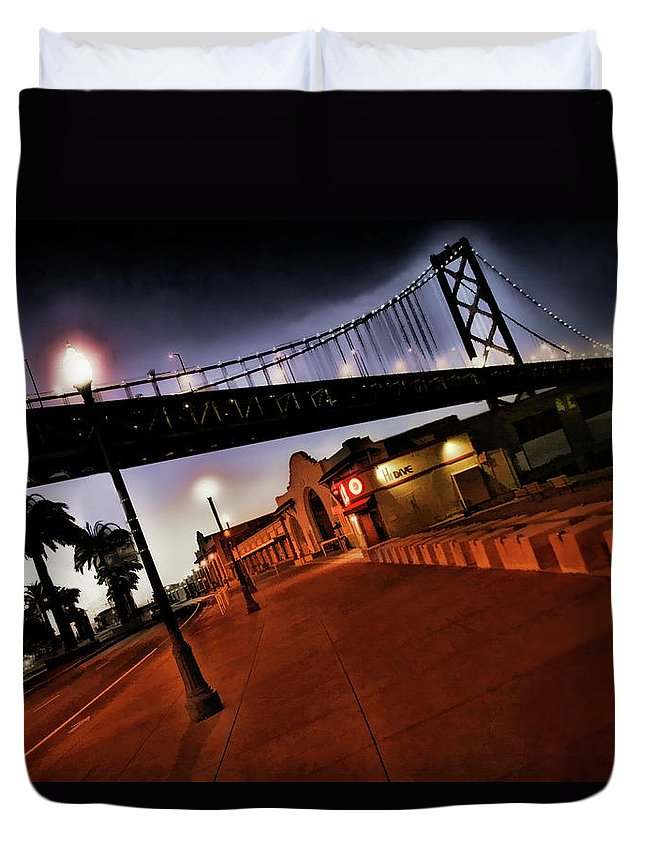 Bay Bridge Duvet Cover featuring the photograph Bay Bridge by Blake Richards
