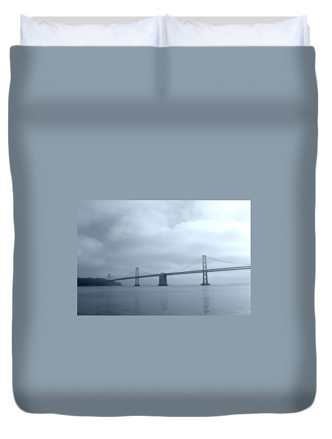 Bay Duvet Cover featuring the photograph Bay Bridge by Tom Reynen