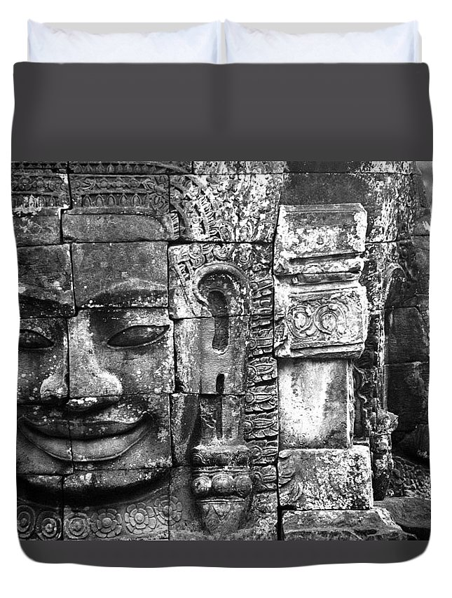 Bayon Temple Duvet Cover featuring the photograph Bayon IIi by Patrick Klauss