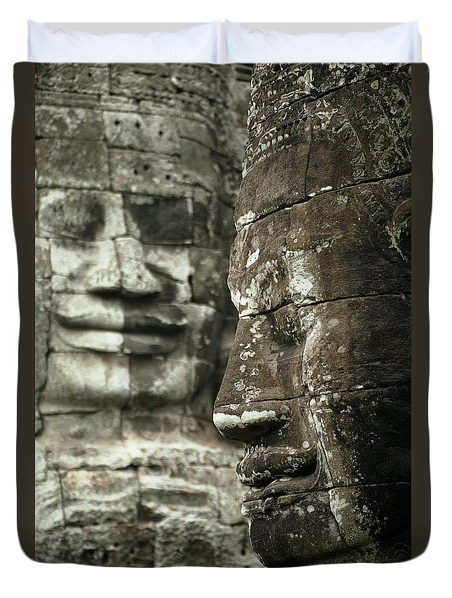 Bayon Duvet Cover featuring the photograph Bayonii by Patrick Klauss