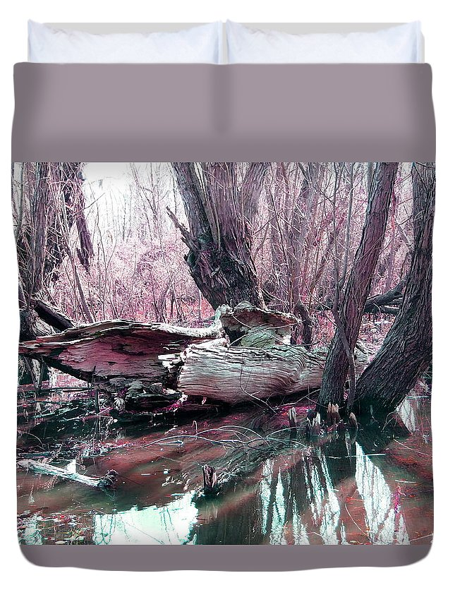 Bayou Duvet Cover featuring the photograph Cypress At Rest by Gina Welch