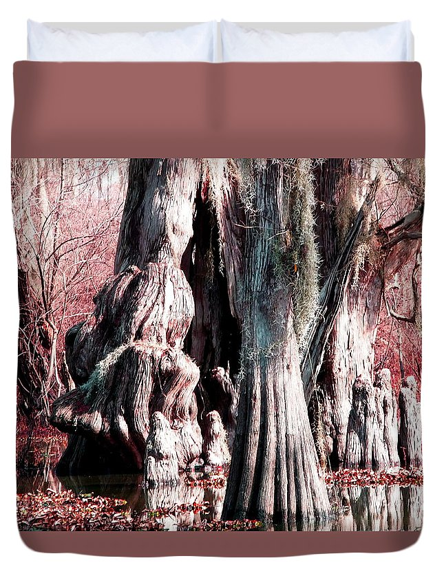 Bayou Duvet Cover featuring the photograph Bayou Character by Gina Welch