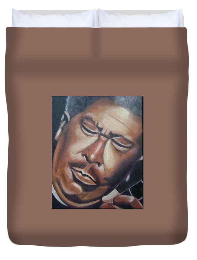 B.b. King Duvet Cover featuring the painting B.b. King by Toni Berry