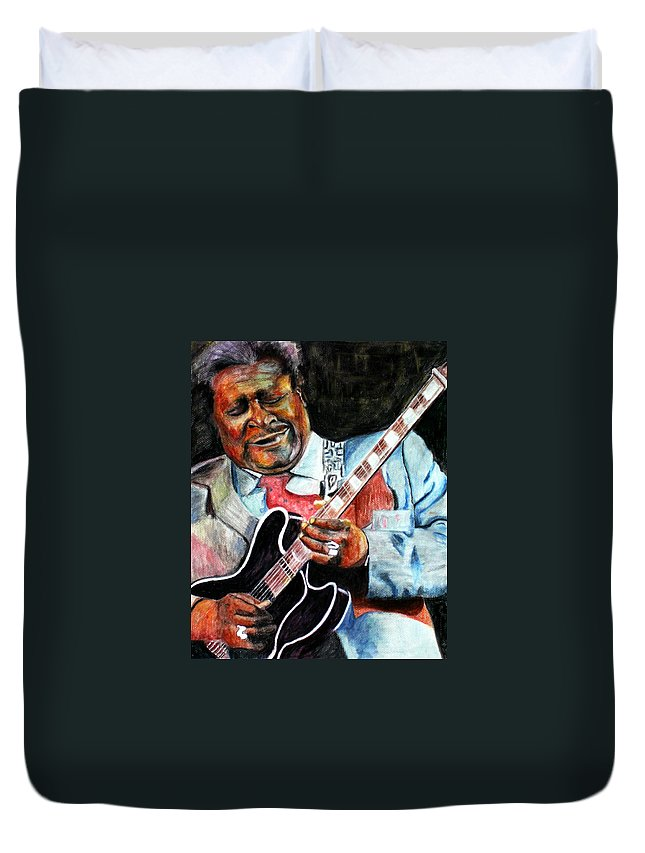 Bbking Duvet Cover featuring the painting Bbking by Frances Marino