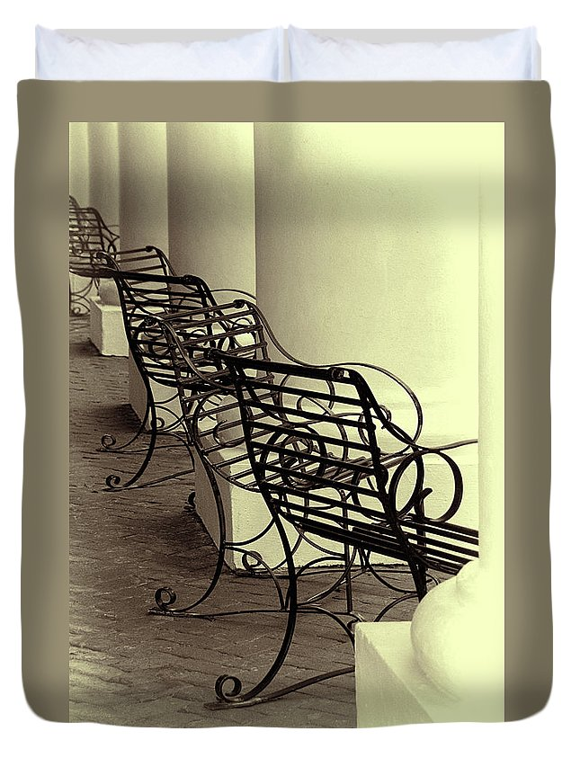Chairs Duvet Cover featuring the photograph Be Seated by Mitch Spence