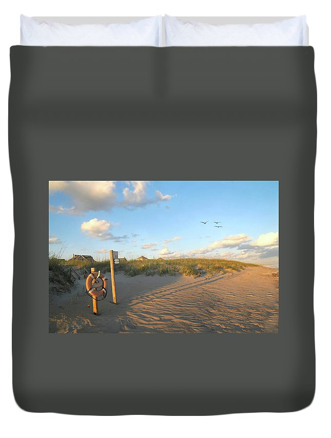 Beach Duvet Cover featuring the photograph Beach Access 30 by Diana Angstadt