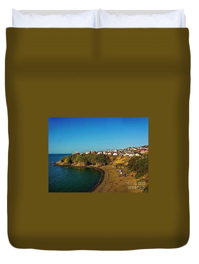 Beach Duvet Cover featuring the photograph Beach - Ancud Chiloe by Roberta Bragan