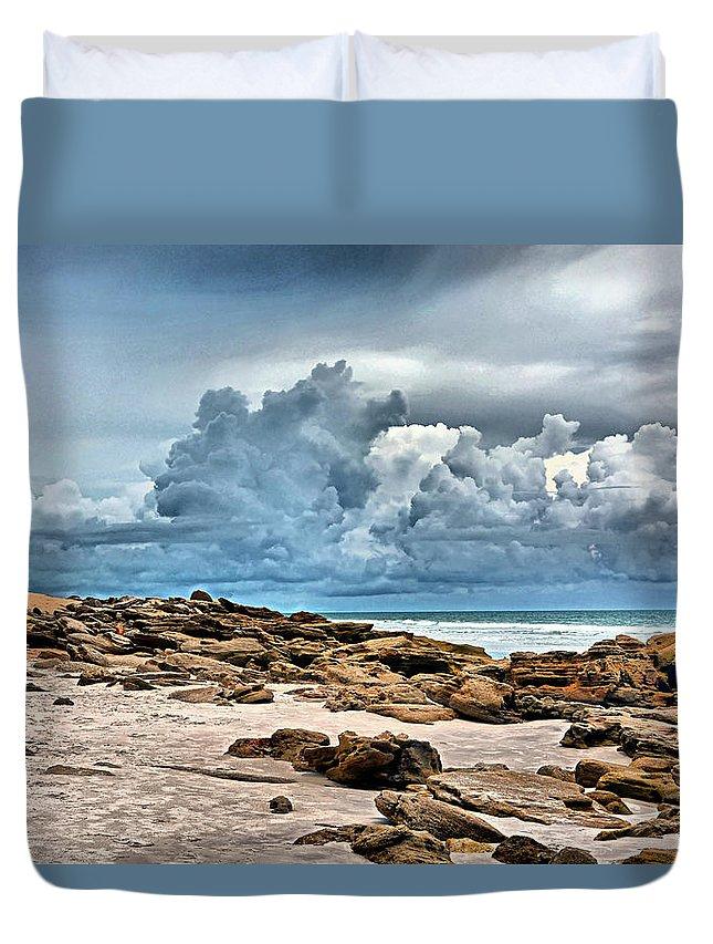 Washington Oaks State Park Duvet Cover featuring the photograph Beach At Washington Oaks by Ben Prepelka