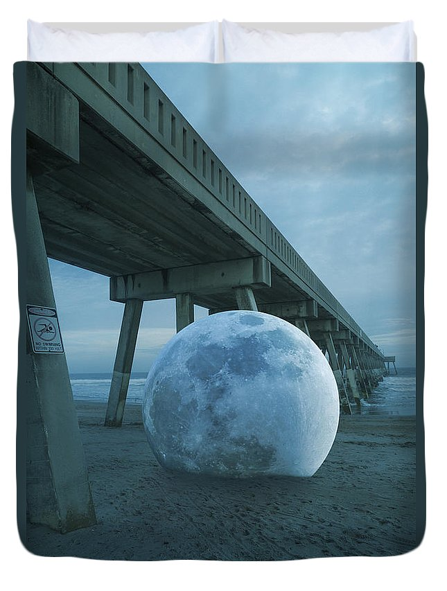 Fantasy Duvet Cover featuring the digital art Beach Ball by Betsy Knapp
