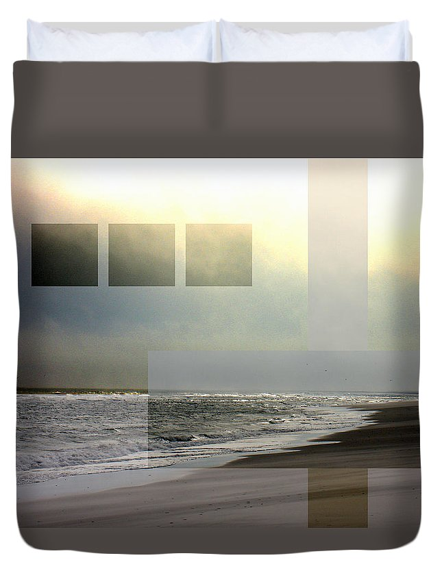 Beach Duvet Cover featuring the photograph Beach Collage 2 by Steve Karol